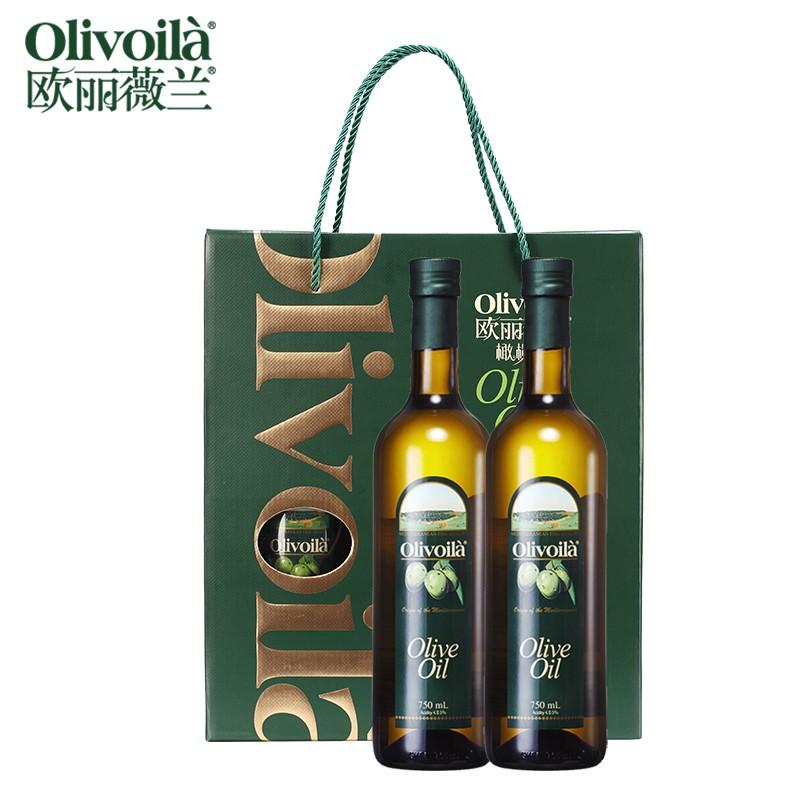 欧丽薇兰 橄榄油绿色(139) 750ML*2瓶/提 (非转基因) (单位:提)
