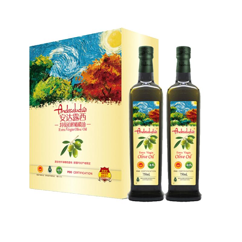 中粮 安达露西 POD特级初榨橄榄油 750ml*2 瓶装 (盒)