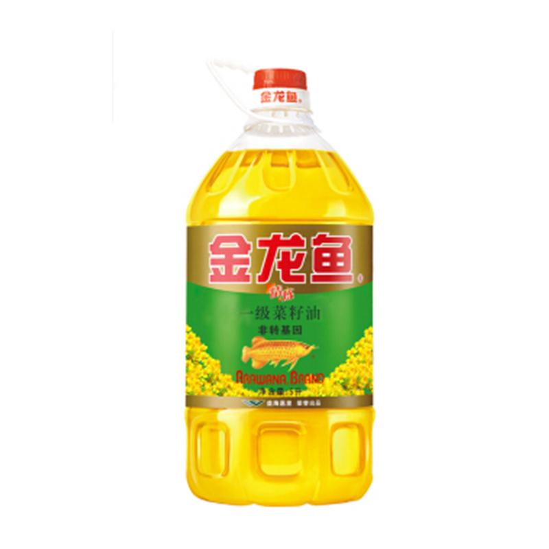 金龙鱼精炼一级菜籽油5L/4瓶/箱(非转基因)(箱)