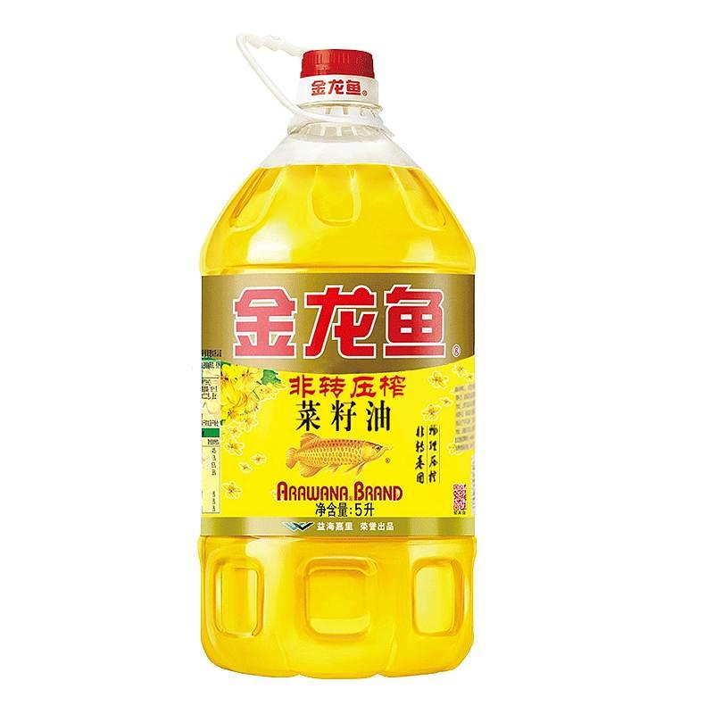 金龙鱼 非转基因 压榨菜籽油 5L/桶 (单位:桶)