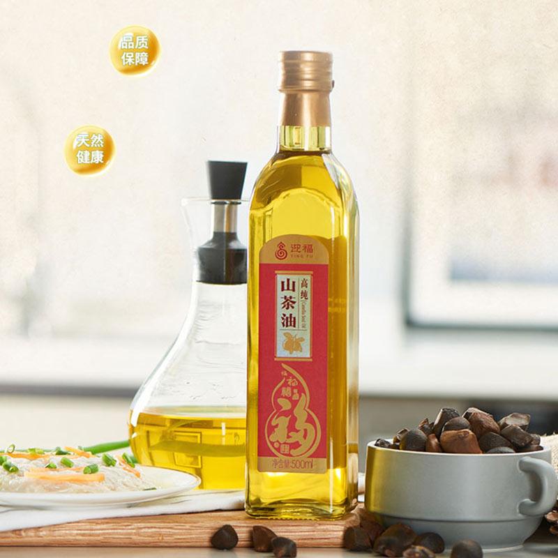 迎福高纯山茶油500ml礼盒装(盒)