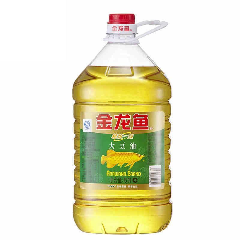 金龙鱼 精炼一级大豆油 5L/瓶 (转基因) (单位:瓶)