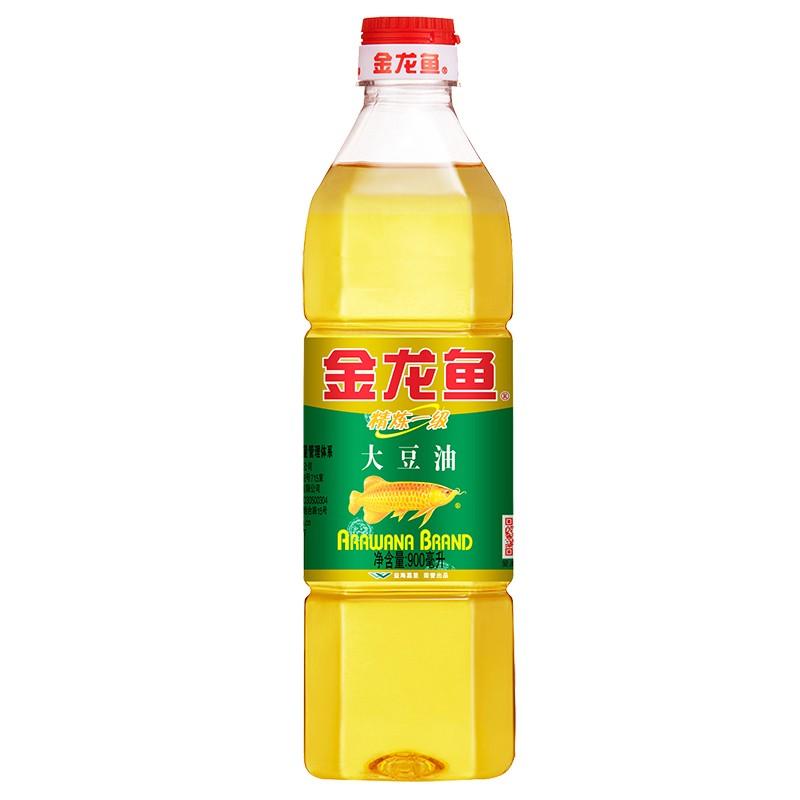 金龙鱼900mL精炼一级大豆油(瓶)