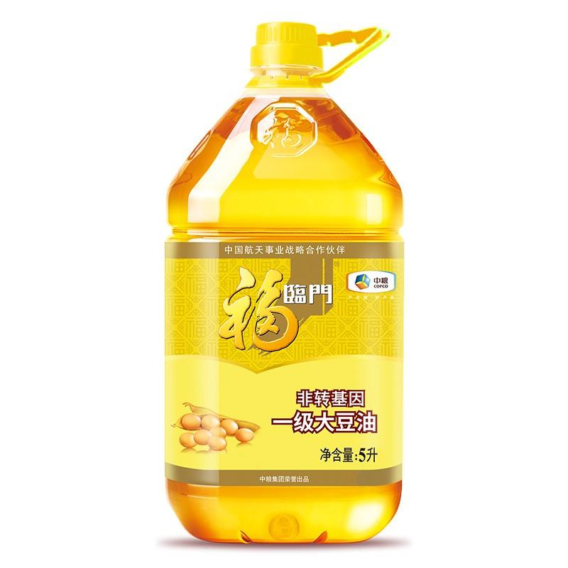 福临门 非转基因一级大豆油5L (桶)
