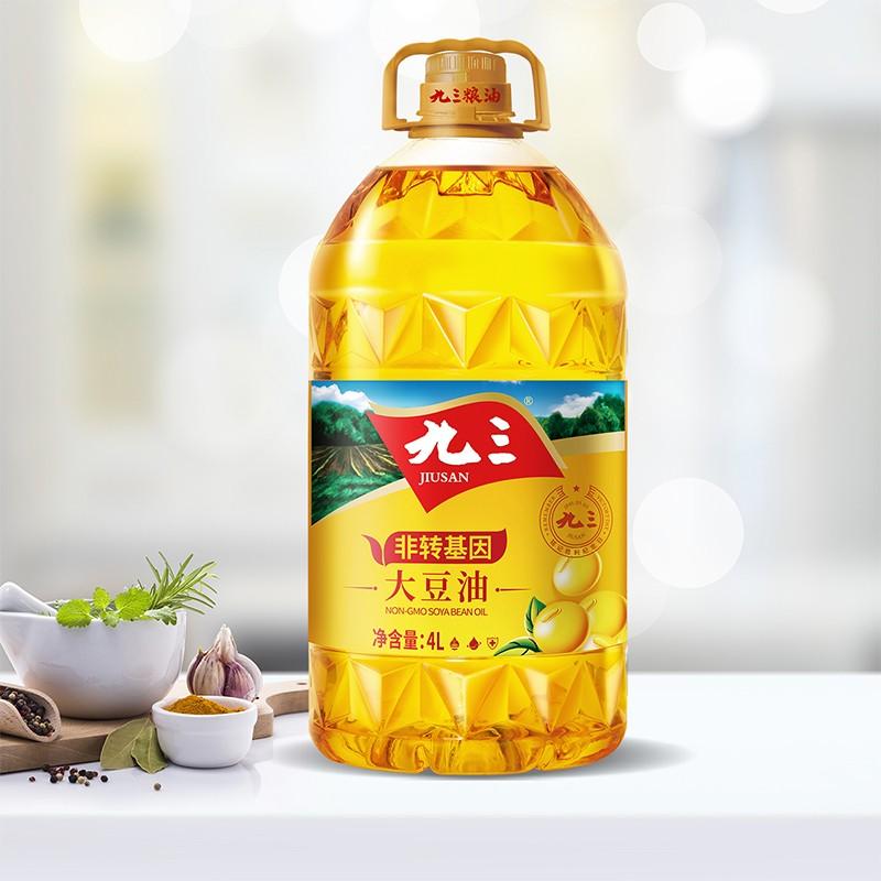 九三非转基因一级大豆油4L(瓶)