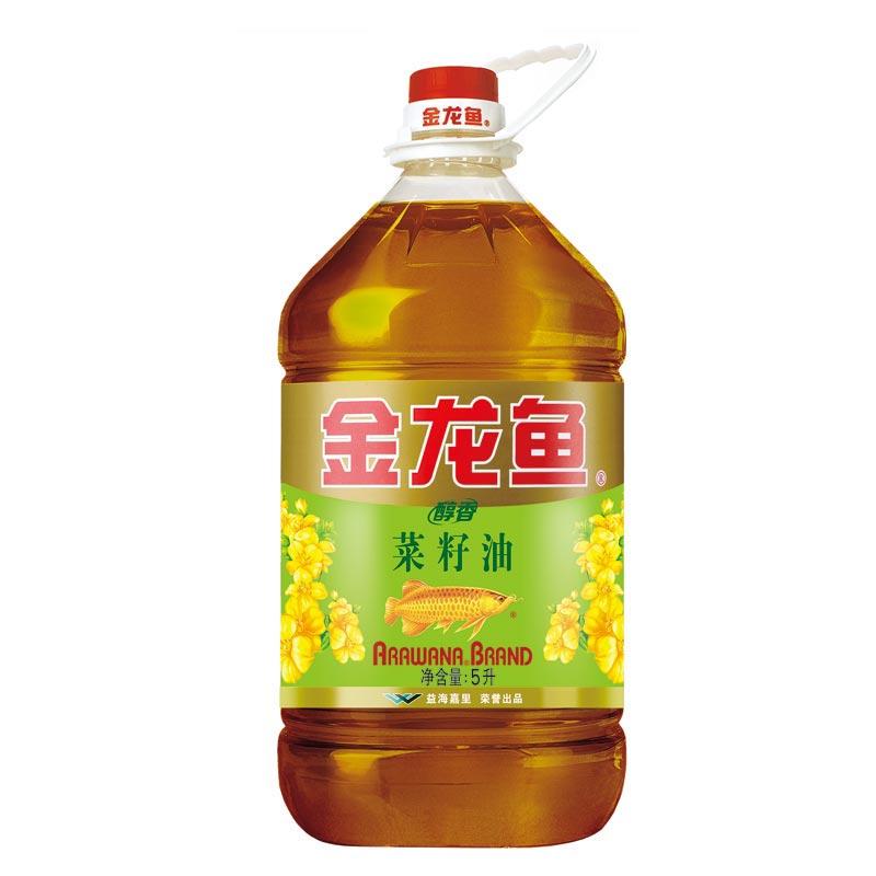 金龙鱼醇香菜籽油5L(转基因)(单位:桶)