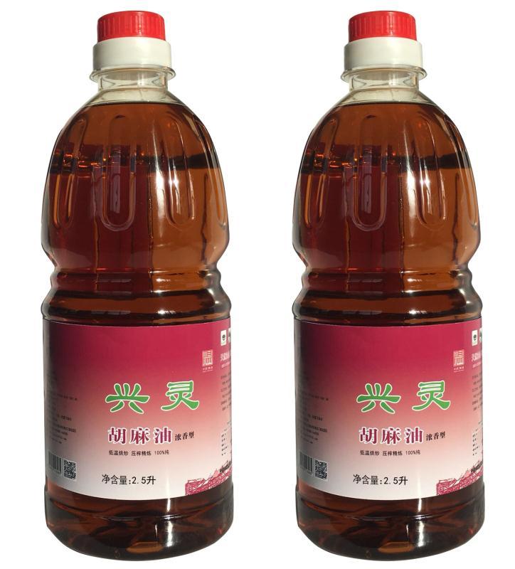 兴灵100%纯 浓香型胡麻油2.5L装(单位:桶)