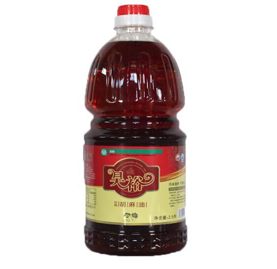 宁夏昊裕胡麻油 压榨胡麻籽油 2.5L桶装食用油(单位:桶)