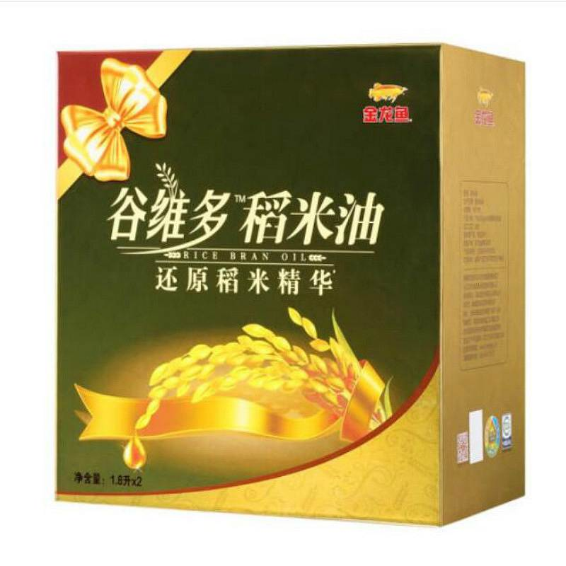 金龙鱼 双一万谷维多稻米油1.8L*2礼盒装(单位:盒)