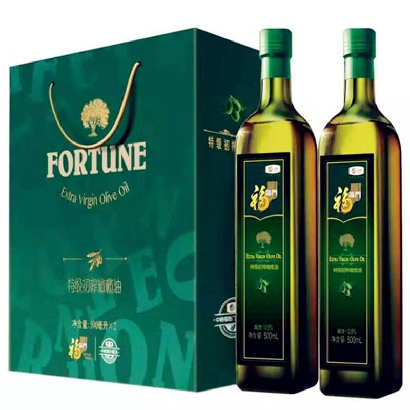 福临门特级初榨橄榄油500ml*2瓶/盒(盒)