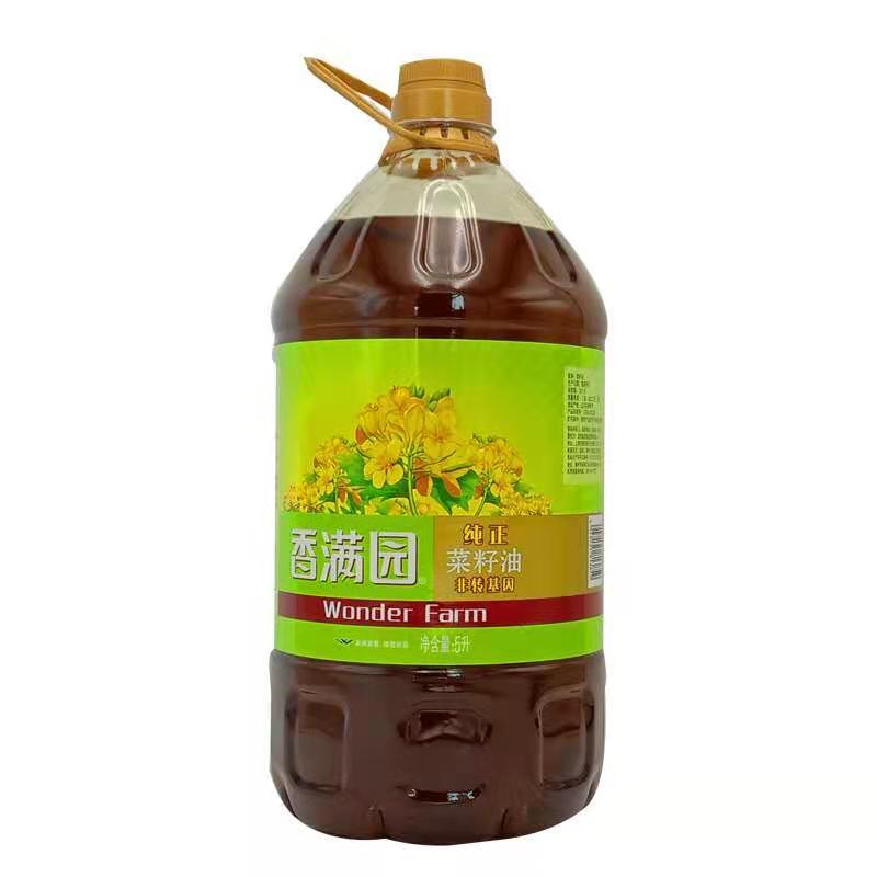 香满园纯正菜籽油5L[非转基因]4桶/箱(单位:桶)
