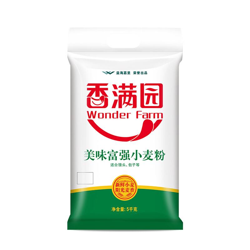 香满园 家用 中筋面粉 美味富强小麦粉 5KG(单位:袋)
