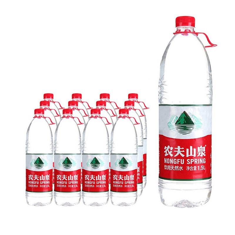 农夫山泉天然饮用水 1.5L*12瓶 (单位:箱)
