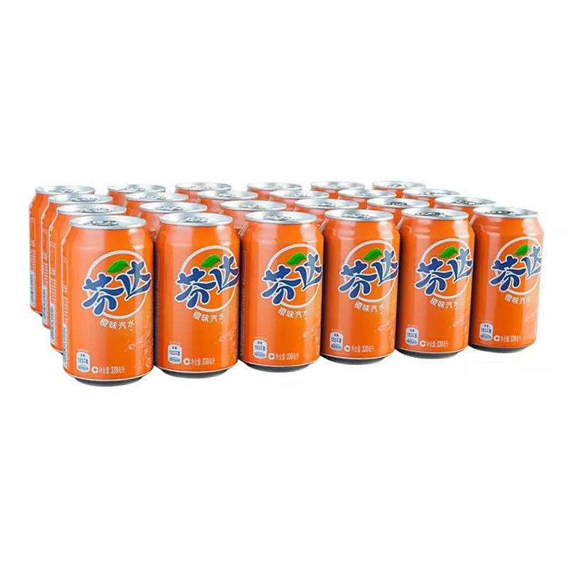 芬达 橙汁 330ML*24罐/箱 (单位:箱)