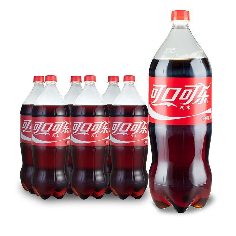 可口可乐汽水碳酸饮料2L*6瓶(箱)