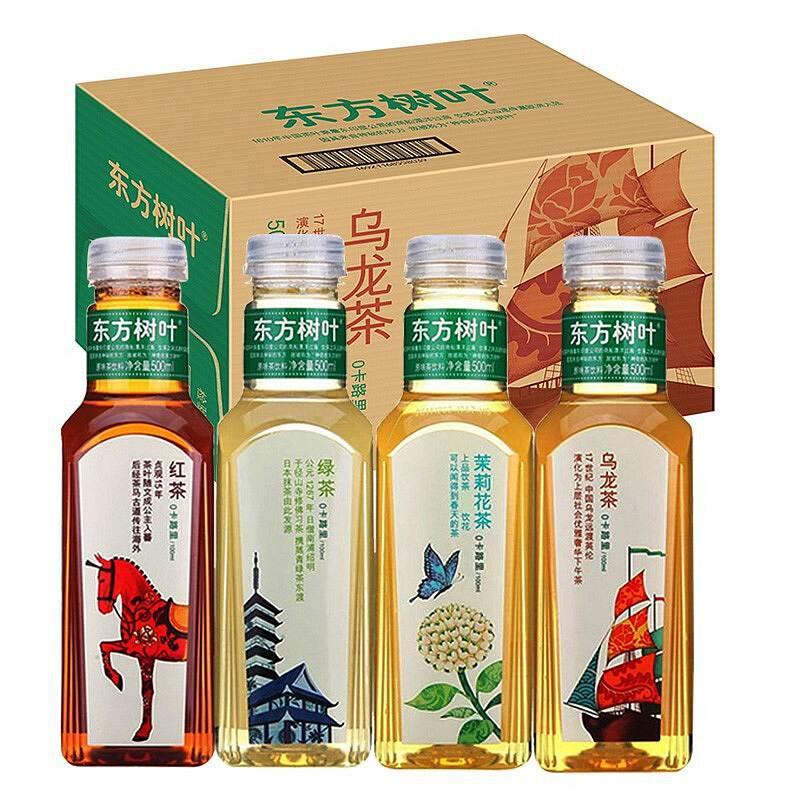 农夫山泉 东方树叶绿茶(无糖茶) 500ml*15瓶/箱 (单位:箱)