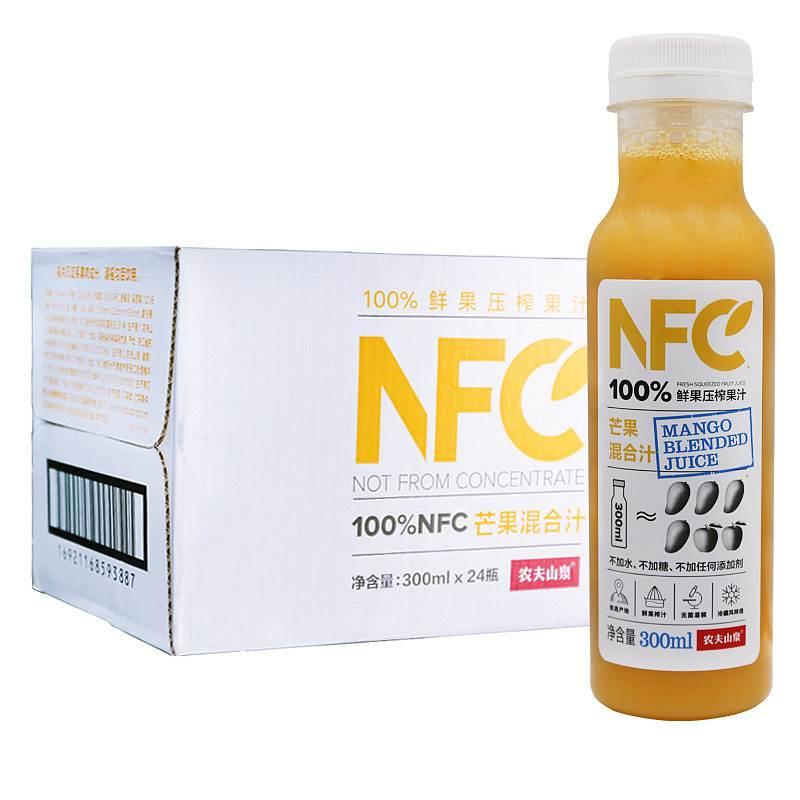 农夫山泉 100%NFC果汁(芒果汁) 300ml*24瓶/箱 (单位:箱)