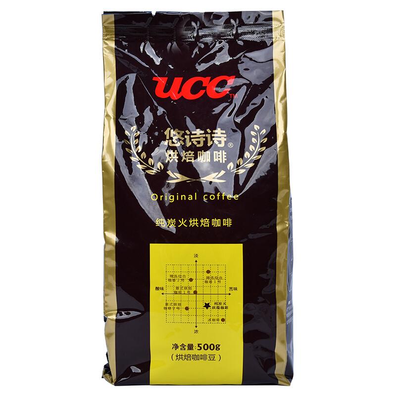 悠诗诗 UCC 纯炭火烘焙咖啡豆500g(单位:袋)