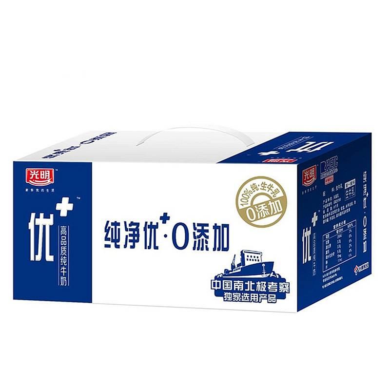 光明 优+礼盒装纯牛奶250ml×12盒 (单位:箱)