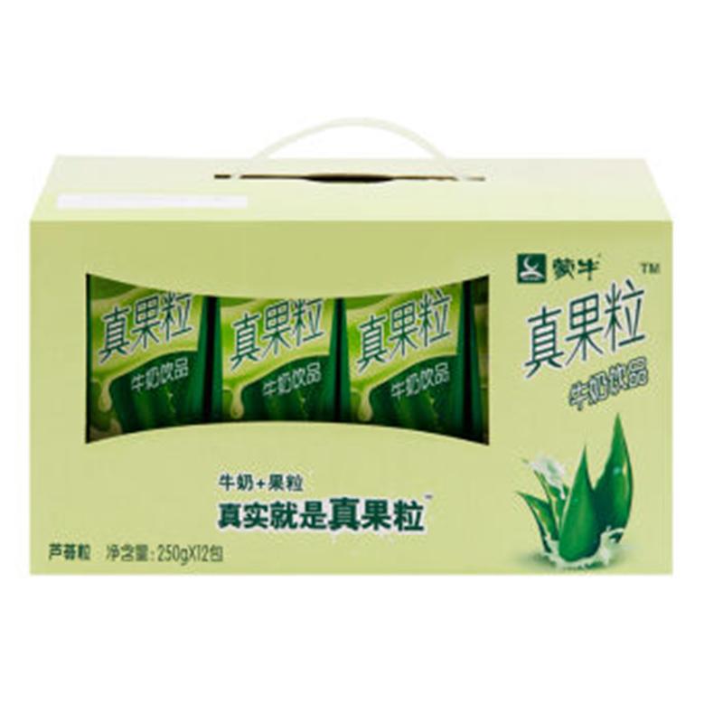 蒙牛 真果粒牛奶饮品(芦荟) 250ml*12盒/箱 (单位:箱)