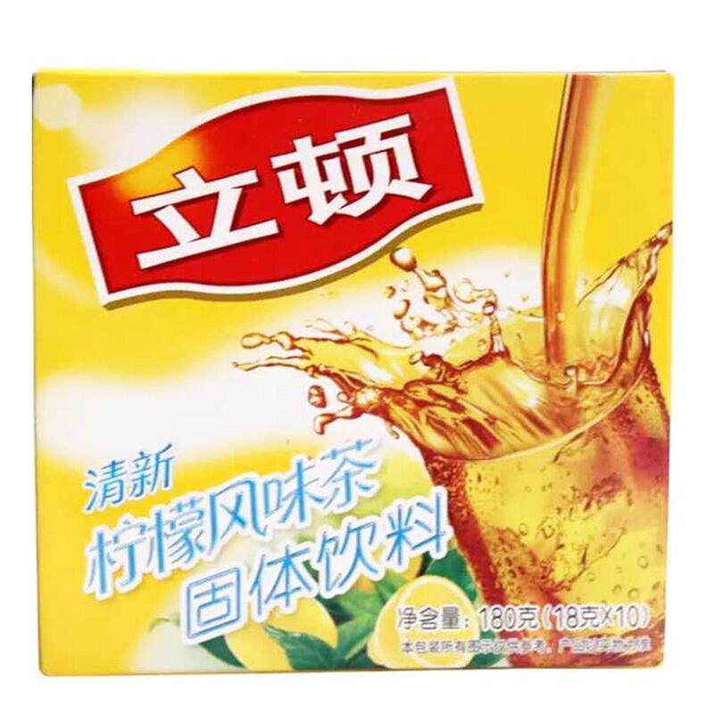 立顿 清新柠檬茶 18g*10包/盒 (单位:盒)