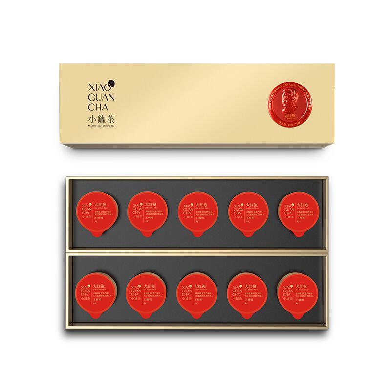 小罐茶金罐大红袍(经典)4g*10罐装40g(盒)