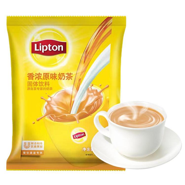 立顿 热茶粉系列香浓原味奶茶黄色热饮粉饮料 500g/包(包)