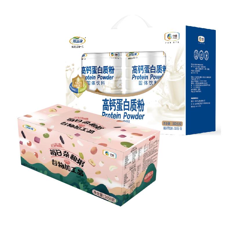 中粮可益康高钙蛋白粉礼盒+中粮可益康每日杂粮粥