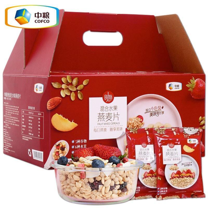 中粮时怡混合水果燕麦片900g(单位:盒)