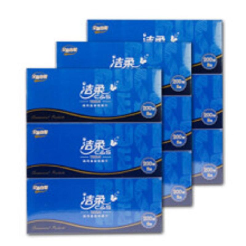 洁柔 CH013抽纸 盒装蓝200抽 3提9盒(箱)