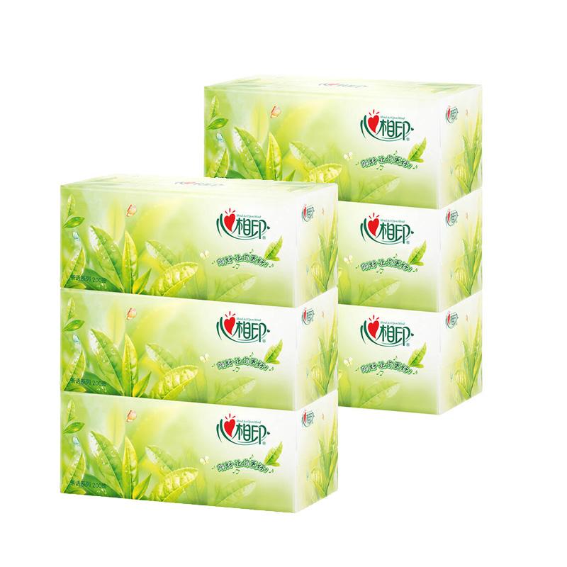 心相印H200盒抽面巾纸(茶语系列)200抽3盒/提,12提/箱(提)