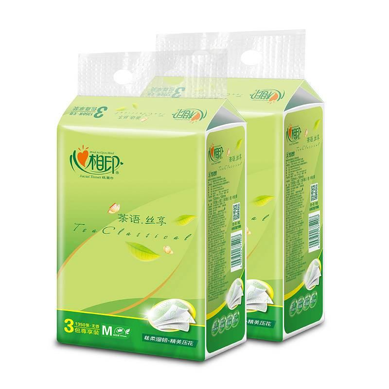 心相印 DT32150 面巾纸150抽*3层/包,3包/提 (单位:提)
