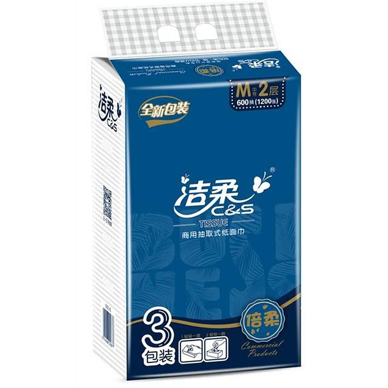 洁柔CR021-01N商用200抽软包3包/提,16提/箱(箱)新老包装随机发货