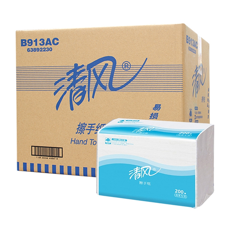清风 B913AC 擦手纸 225*230mm200张/包20包/箱 (单位:箱)