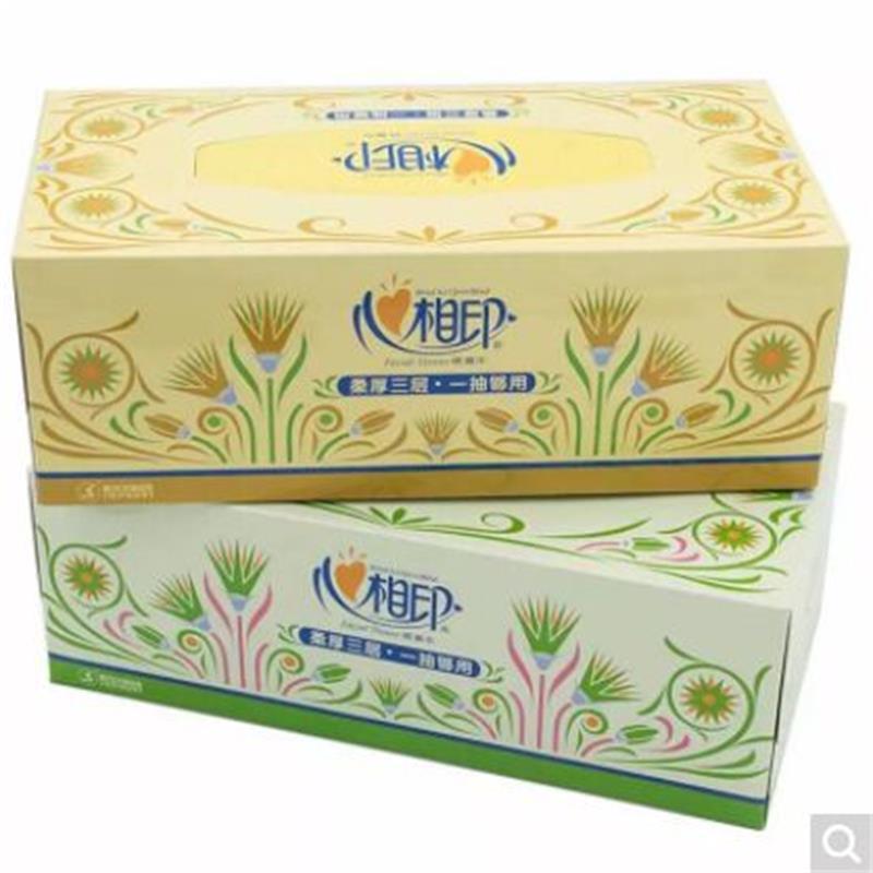 心相印 FT18090典雅图面巾纸盒抽纸 6盒/提 8提/箱(箱)