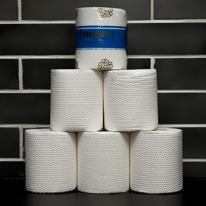 海戈 卷纸商用整箱厕所纸巾家用卫生纸实惠装10卷/提*10提/箱(箱)