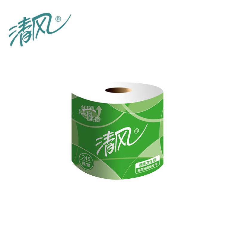 清风B22AA3S卫生卷纸110*100mm 245段/卷 10卷/提 10提/箱(单位:箱)