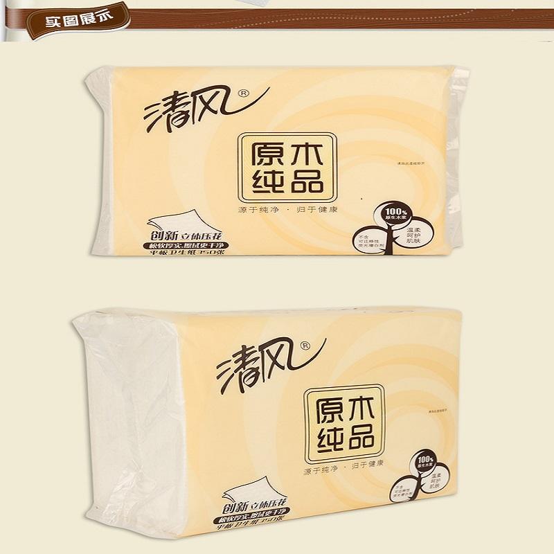 清风BF2C1A清风原木卫生纸100包/箱白色(单位:箱)