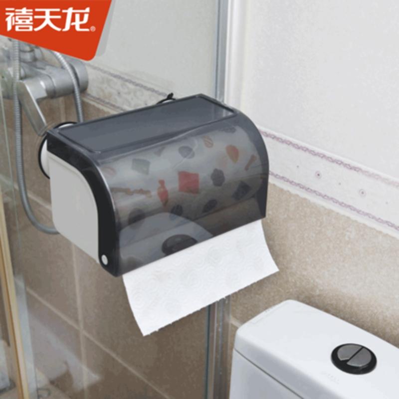禧天龙J-8561吸盘纸巾盒混色12个/箱(个)