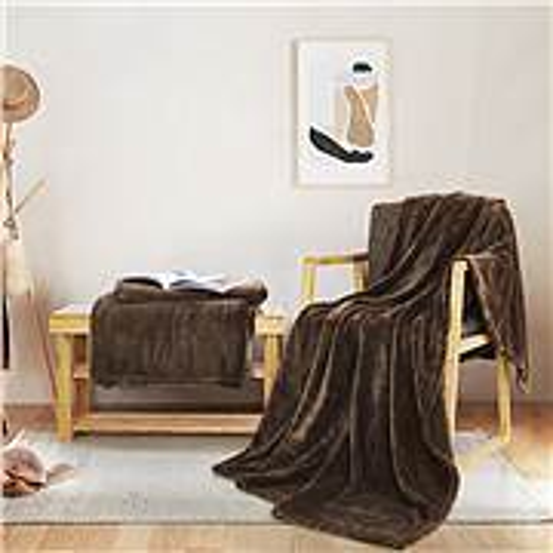 愉悦之家 H愉悦之家 素色暖绒发热毯(小) 150*200cm咖啡 (单位:件)