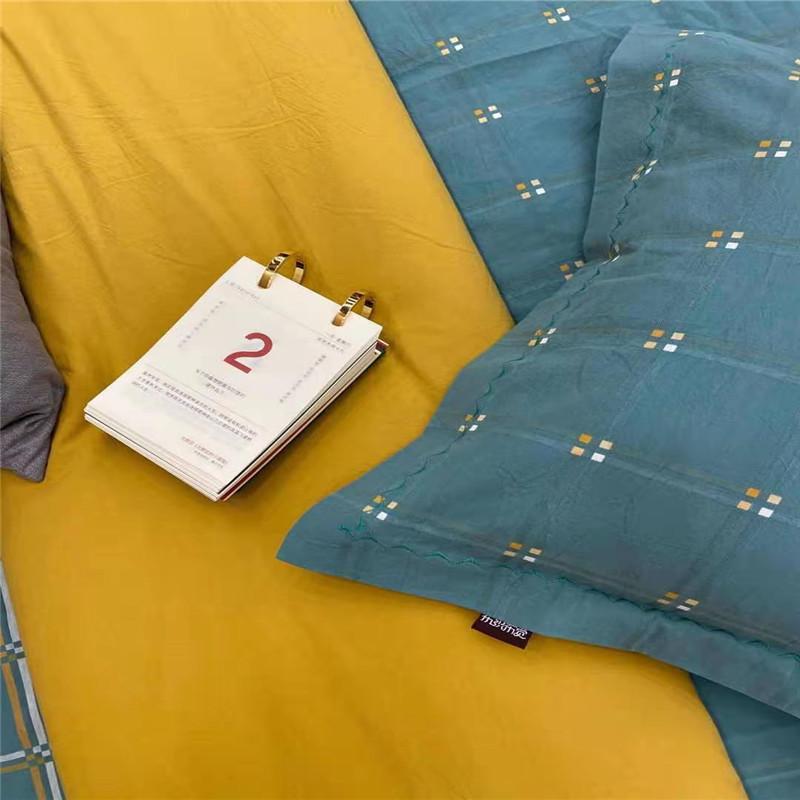 迎兴 无双提花工艺水洗棉枕套50*78cm(个)
