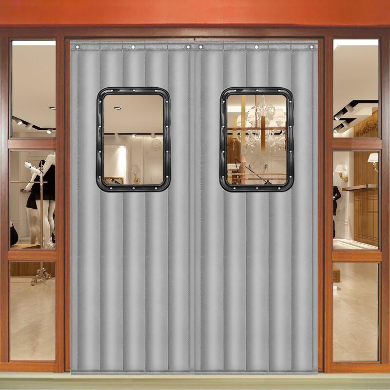 迪茵棉门帘保暖防风帘商用 40*60窗口灰色牛津布2层棉90*210cm(个)