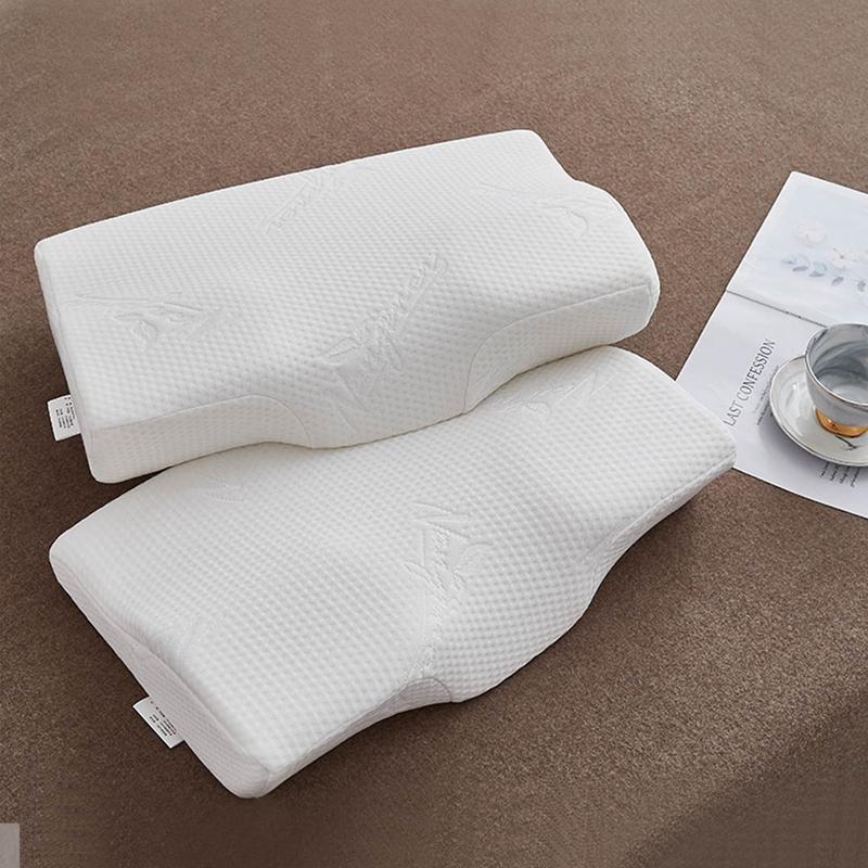 愉悦之家  H蝶形记忆枕(两只装)50x30x6/10cm 白色 (单位:对)