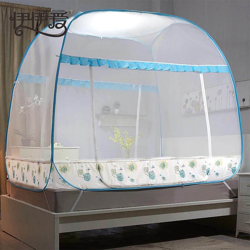 伊伊爱 180*200cm 铃兰雨系列全自动大方顶坐床蚊帐1.8m (单位:顶)