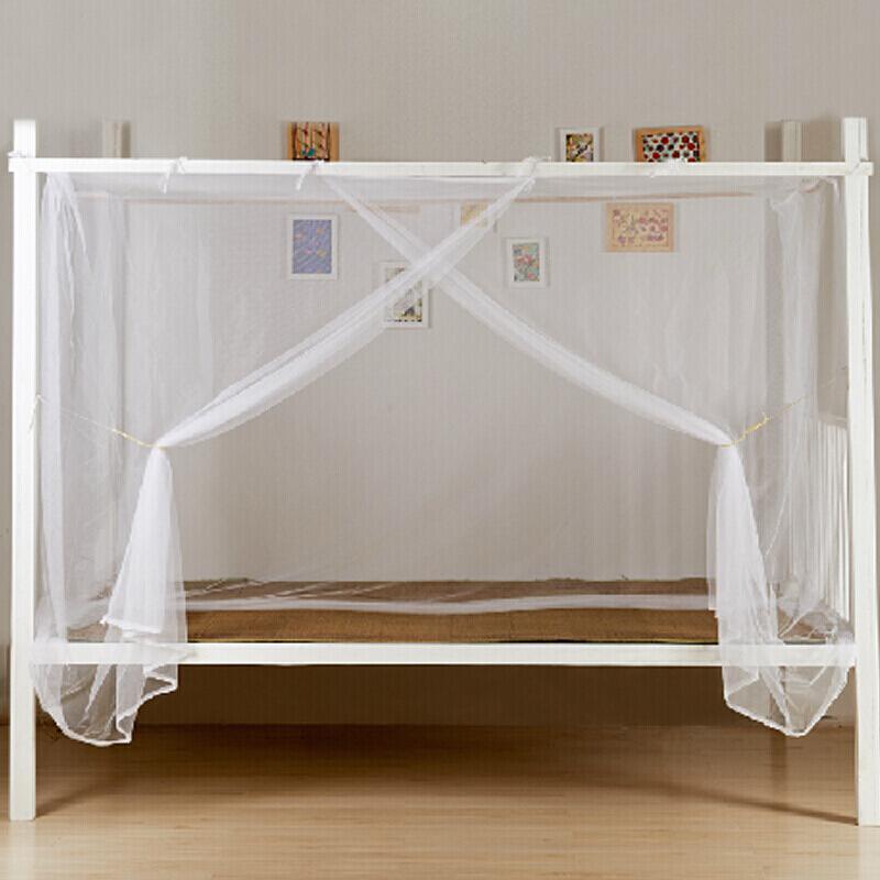 艾薇学生蚊帐宿舍床帘 加高加密方顶寝室防尘帘上下铺蚊帐单人床 0.9米床(个)