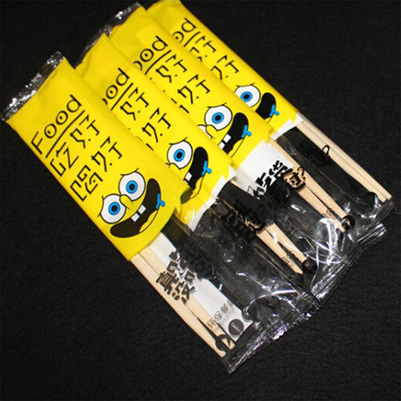 展艺一次性筷子四件套包筷子勺子牙签纸巾四合一(套)