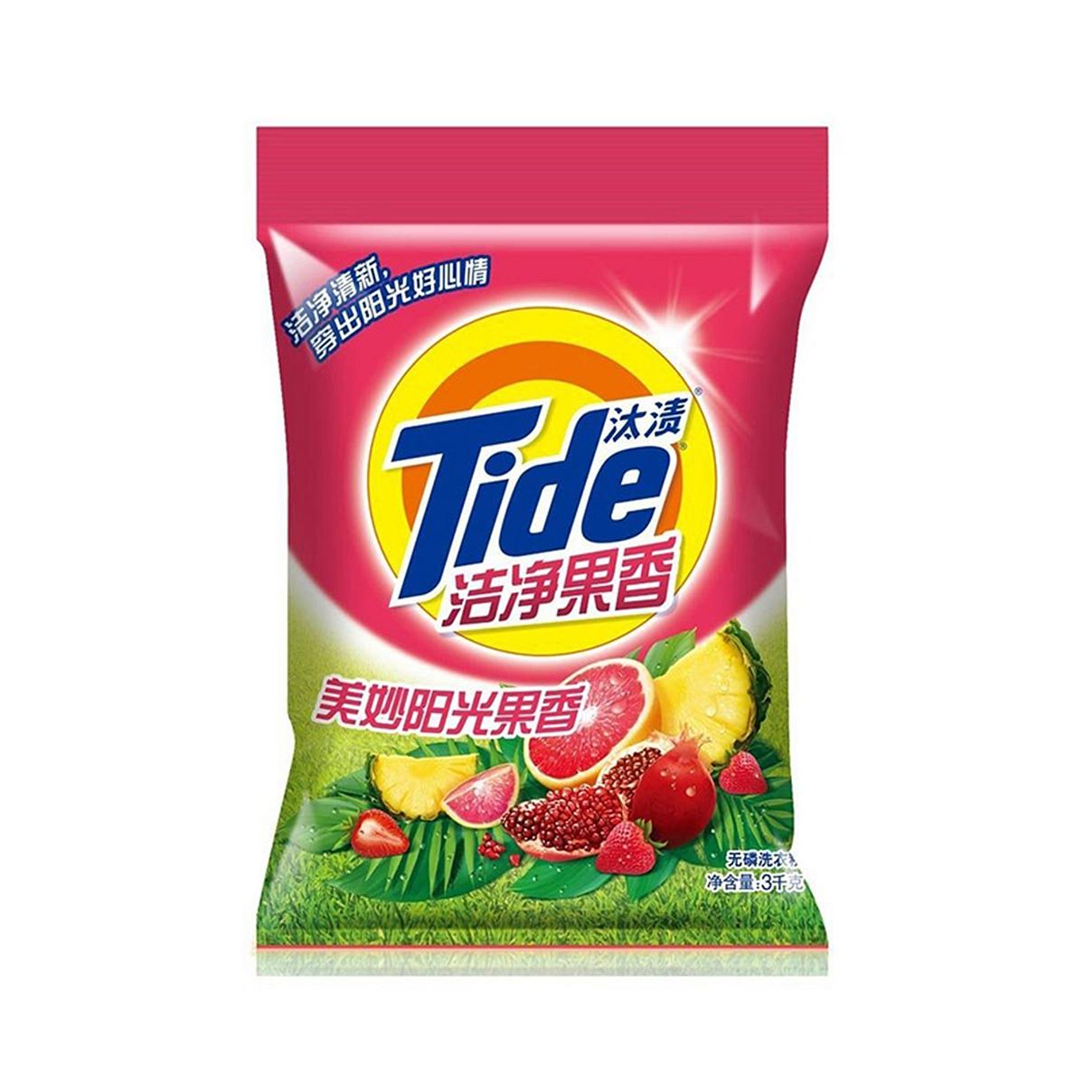 汰渍3kg洁净果香洗衣粉(袋) 洗衣粉