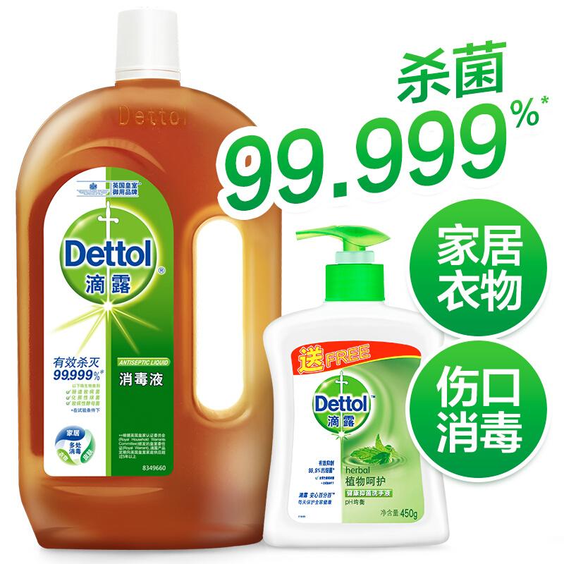 滴露消毒液1.2L+450g洗手液(组)
