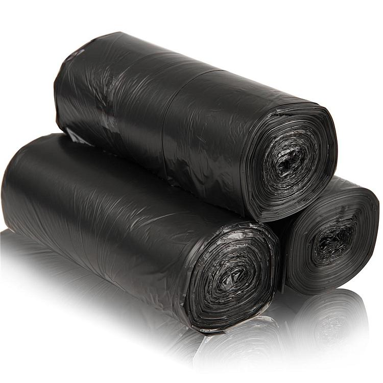 得力33067垃圾袋(黑)(3卷/套)45×55cm八角底
