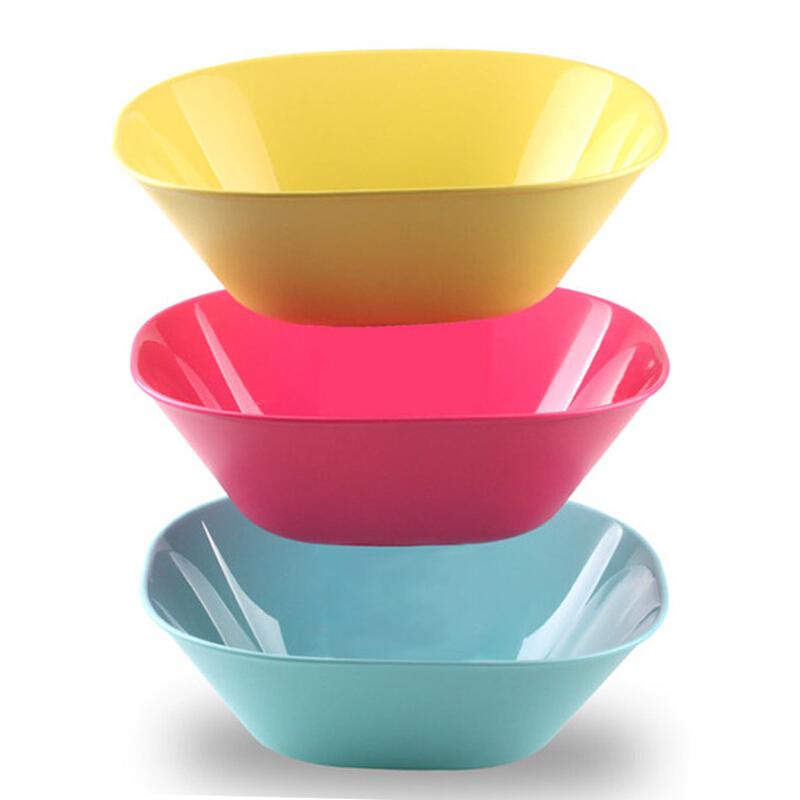 茶花2787方形沙拉碗随机色27.19*23.45*9.11cm2.5L(个)
